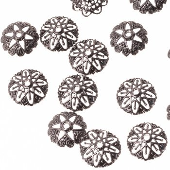 Металевий литий обіймач, під чорнене золото, 10 мм