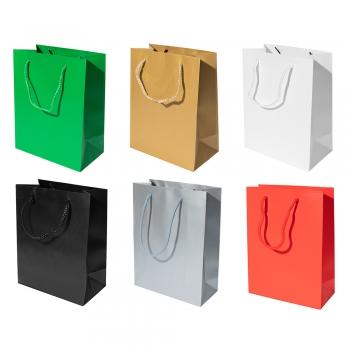 Подарунковий пакет мікс кольорів 18x23x10 см