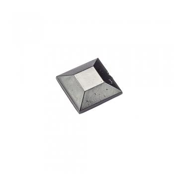 Стрази клейові пластикові 10х10 мм чорні уп. 10 шт