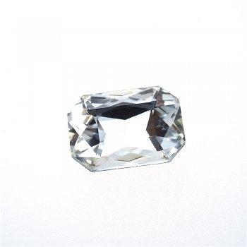 Стрази скляні вставні, прозорі, 25х18 мм