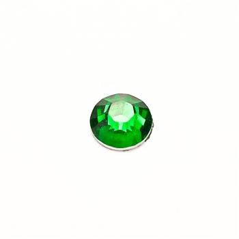 Стразы клеевые пластиковые 6 мм зеленые уп. 25шт