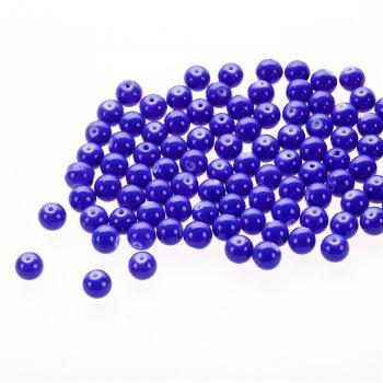 Скло опаковий одноколірні. Яскраво-синій. Діаметр 8 мм.