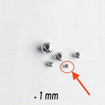 Металлические литые бусины круг