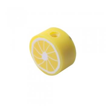 Бусина из полимерной глины Лимон 10 мм