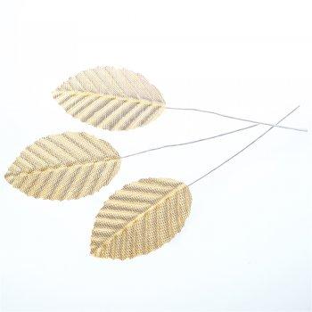 Искусственные листья. Золотой. Длина 50 мм.