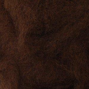 Шерсть-кардочёс новозеландская тёмно-коричневая 27 мкм 25 г, К2013
