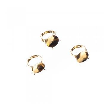 Основы для колец. Золотой. Диаметр 18 мм.