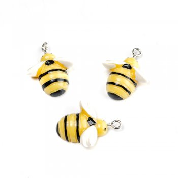 Бджола. Підвіски з полімерної глини тваринки