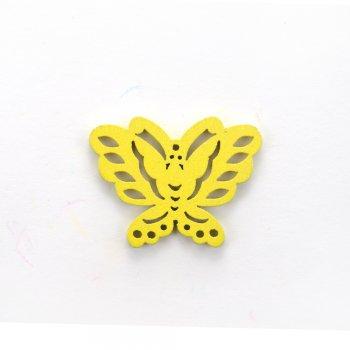 Дерев'яна підвіска Метелик Жовтий