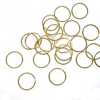 Кольцо для брелка золотистое 25 мм