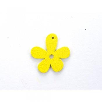 Дерев'яна підвіска Квіточка Жовта