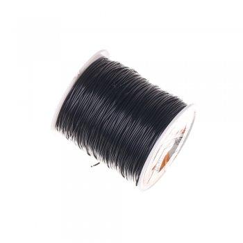 Резинка силиконовая толстая черная 0,8 мм