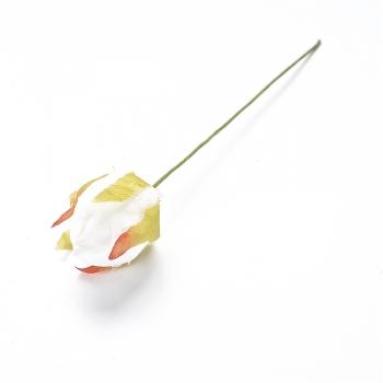 Штучна квітка біла 16 мм