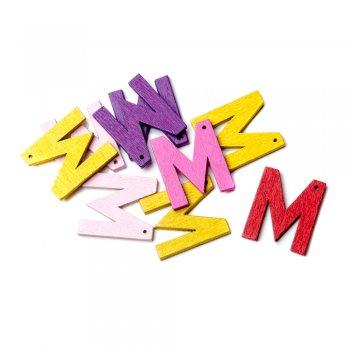 Підвіски дерев'яні, буква M