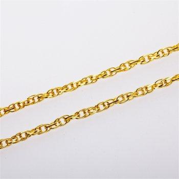 Цепь золотая якорная корда 5 х 7 х 1,2 мм