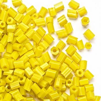 Бісер-рубка жовтий глянець 2.1 мм скло