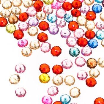 Пластикові кристали, мікс кольорів, 10 мм