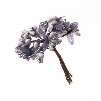Декор Бело-голубые цветы
