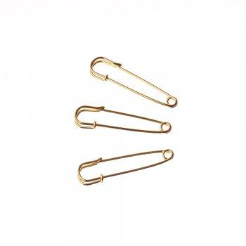 Английские булавки для брошки золотой 50 мм