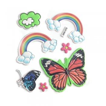 "Наклейки ""Радуга и бабочки"""