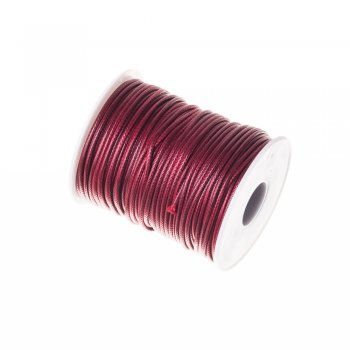 Плетёный шнур бордовый, синтетика, 2 мм