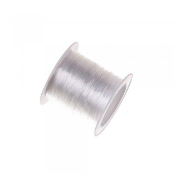Резинка силиконовая тонкая, белая 0.5мм