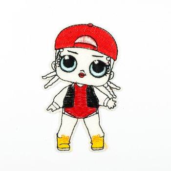 Тканинна нашивка Лялька ЛОЛ M.C. Swag в стилі хіп-хопу