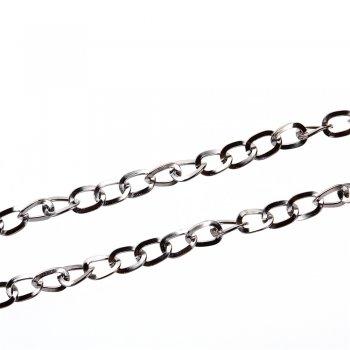 Ланцюг темно-сталева середній панцирний 8х10х1,4 мм