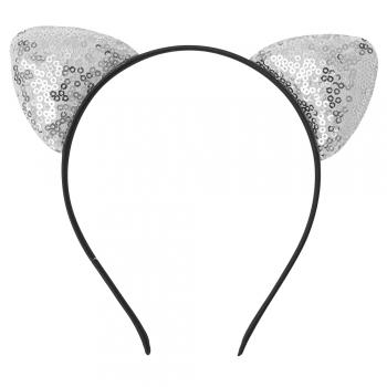Обруч металлический декоративный Ушки с паетками