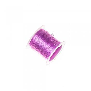 Резинка силіконова тонка бузкова 0,5 мм