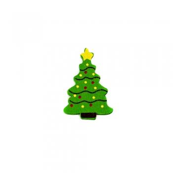 Деревянные клеевые элементы. Новогодняя ёлка. Размер 37*25 мм.