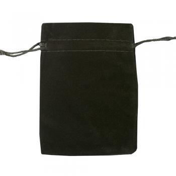 Декоративний мішечок оксамитовий 12х9 см чорний
