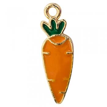 Металлическая подвеска с эмалью Морковь