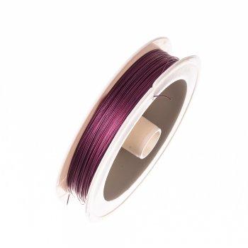 Металева волосінь 100 м (+-10%). Фіолетовий. Діаметр 0,38 мм.