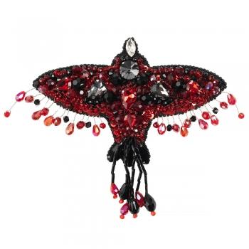 Брошка Червона Птиця (ручна робота)