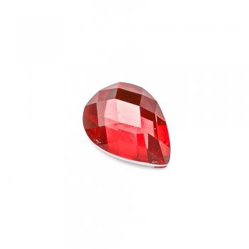 Стрази клейові пластикові 16х12 мм червоні уп. 10 шт