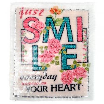 Тканинна нашивка Smile Everyday