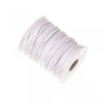 Шнур скрученный хлопок белый 2 мм