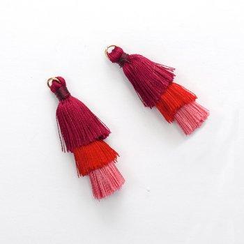 Текстильные кисточки красные