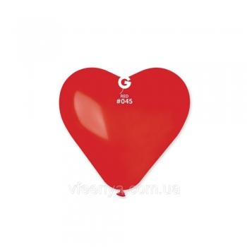 Латексний куля 25см Серце червоне