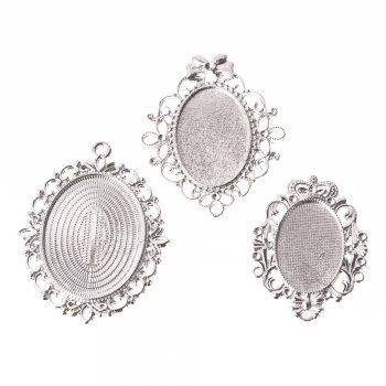 Основа для вклеивания камней малая Серебро