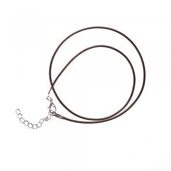 Основа для подвески тёмно-коричневая хлопок и полиэстер с блеском 1,5 мм