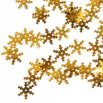 Пайетки золото снежинка
