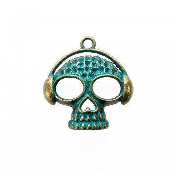 Кулон металевий череп