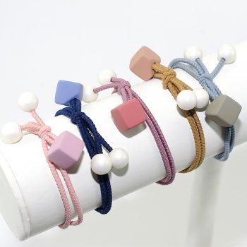 Резинка для волосся Кубик з намистинами