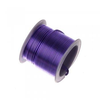 Алюмінієвий дріт світло-фіолетовий 1,5 мм