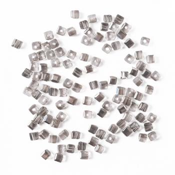 Кришталева намистина в формі куба 2 мм сіра 20 шт