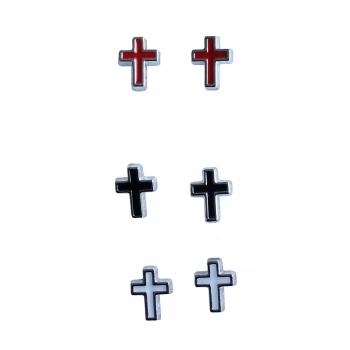 Серьги-гвоздики Крест (пара)