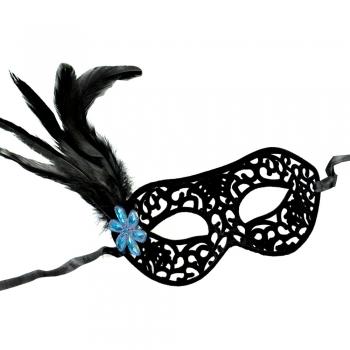 Пластикова маска з пір'ям