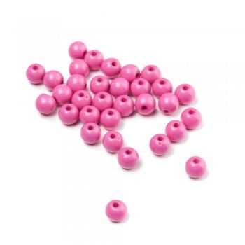 Пластик одноколірний рожевий мікс форм. Діаметр 7 мм